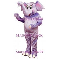 Adorable Purple Baby Elephant Mascot Costume