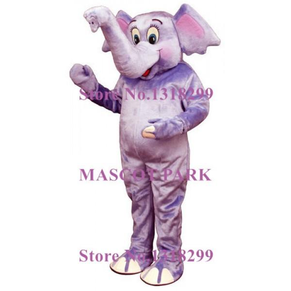 Adorable Purple Baby Elephant Mascot Costume