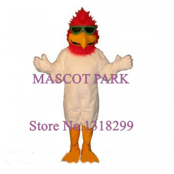 red head white bird Mascot Costume