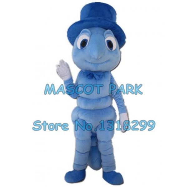 blue Mosquito Mascot Costume