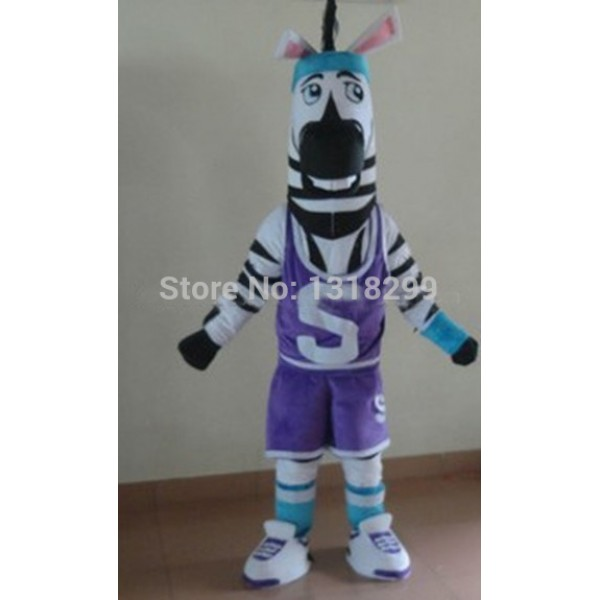 Zebra Athlete Sportsman Mascot Costume