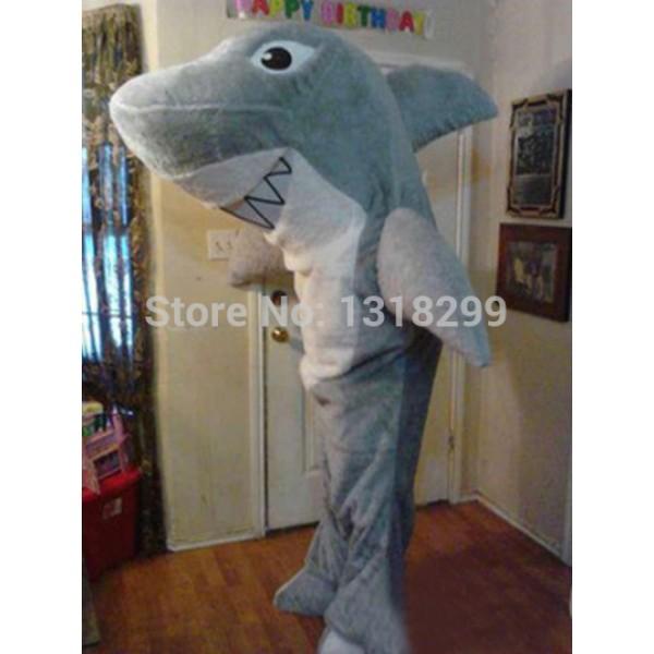 Big Grey Shark Mascot Costume