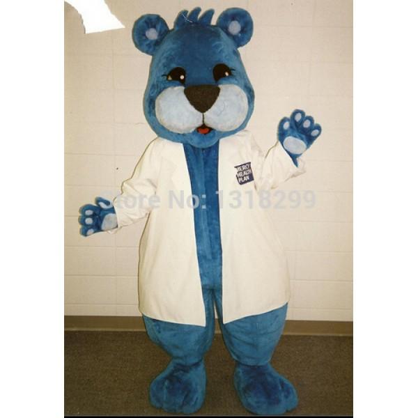 Advantage Blue Bear Mascot Costume