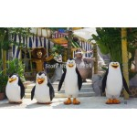 4 penguins and leo hippo lemur Mascot Costume