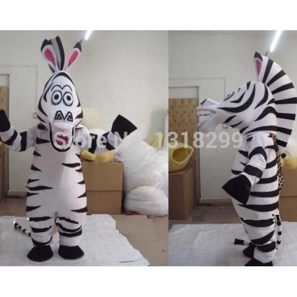 Zebra Marty Mascot Costume