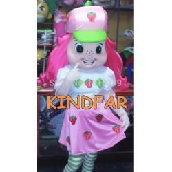 Strawberry Shortcake Mascot Costume