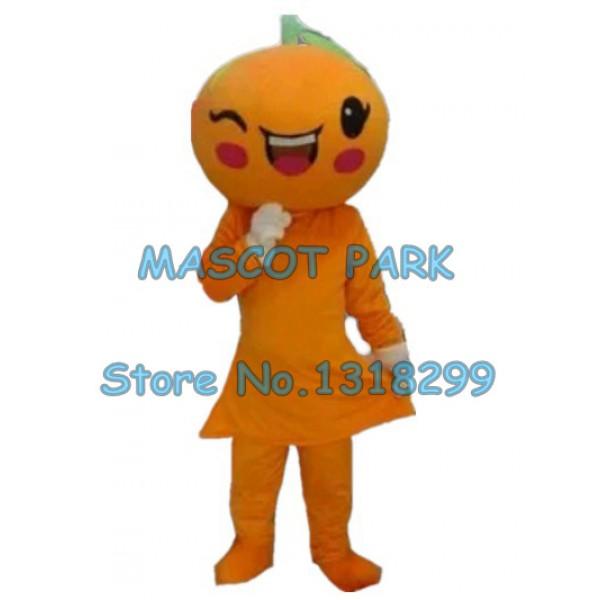 cartoon orange Mascot Costume