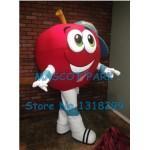 big red apple boy Mascot Costume
