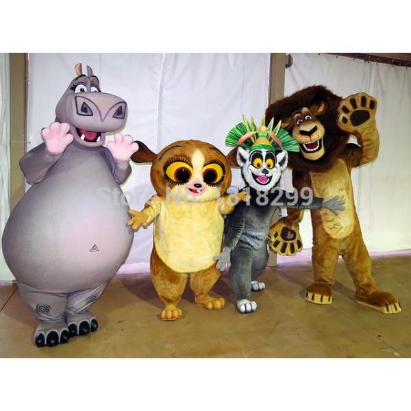 lion lemur gloria mort Mascot Costume