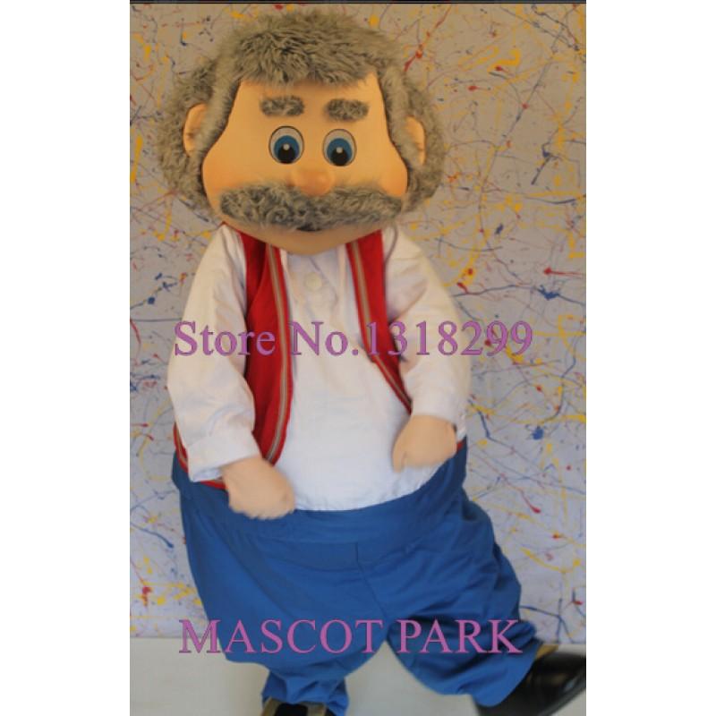 Old Man Adult Cartoon Mascot Costume