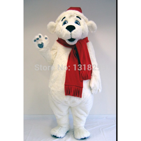 ZOO POLAR BEAR Mascot Costume
